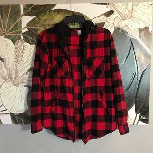 Divided Jackets & Coats - Checkered Hoodie Jacket
